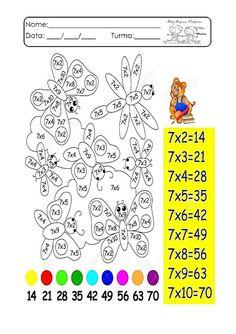 Multiplication Games, Fractions, Math Exercises, Preschool Assessment, School Frame, Kids Math Worksheets, Math For Kids, School Hacks, Numerology