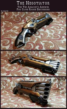 This is a Roughcut NERF gun that is designed in the style of Steampunk. I love this shotgun design!