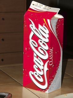 Coca Cola milk carton, Botella de carton