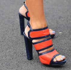 technically not like the other fabrics - but how amazing are these orange & blue shoes!!