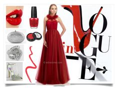 """Hot In Red!"" by edressme ❤ liked on Polyvore featuring Camille la Vie, Charlotte Tilbury, OPI, Manic Panic and Topshop"