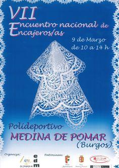 9/3 VII Encuentro de encajeras. Medina de Pomar   10:00h - 14:00h  Polideportivo  #Merindades