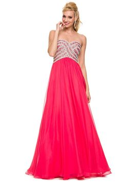 Long solid color prom dress