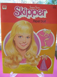 vintage paper dolls | Paper-Doll-Super-Teen-Skipper-Vintage-Whitman-UNCUT-Paper-Dolls-1980-w ...