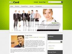 BizCard WordPress theme