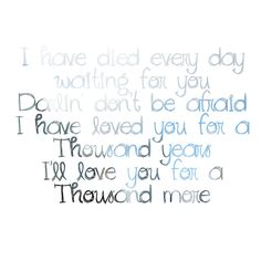 Thousand Years ~Christina Perri