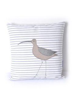 Applique Cushion Curlew