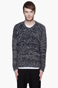 MARC BY MARC JACOBS Navy and white Macchio Sweater