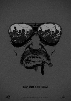 """Keep Calm and Reload"" Zomb Series by Jean Baptiste Casasola, via Behance Dark Wallpaper, Cartoon Wallpaper, Iphone Wallpaper, Art Sketches, Art Drawings, Dessin Old School, Zombie T Shirt, Grafiti, Illustration Vector"