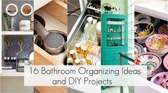 16 ways to organize the bathroom