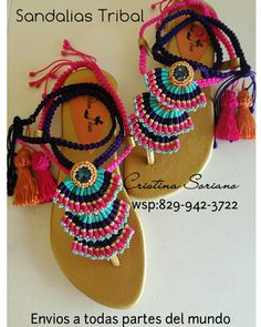Shoes Flats Sandals, Cute Sandals, Bare Foot Sandals, Crochet Sandals, Crochet Slippers, Black Dress Red Heels, Shoe Makeover, Decorating Flip Flops, Crochet Jewelry Patterns
