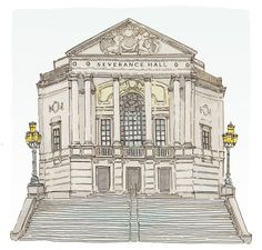 Severance Hall (Illustration by Julia In Cleveland)