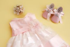 Stripes and shades of pink make the perfect dress for more event dresses for your little one check out www. Event Dresses, Wedding Dresses, Fairytale Dress, Stylish Dresses, Little Princess, Dress For You, Flower Girl Dresses, Stripes, Shades