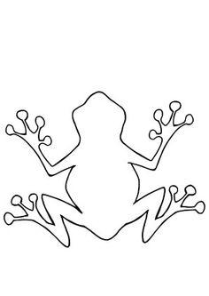Ausmalbild Frosch Umriss