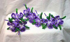 Purple iris kanzashi set by EruwaedhielElleth on DeviantArt