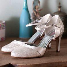 160 Brautschuh Caroline 39,5 Rainbow Club - Satin Soft Bliss - Fine Glitter - Hochzeitsschuhe - 7,5 cm Absatz: Amazon.de: Schuhe & Handtaschen