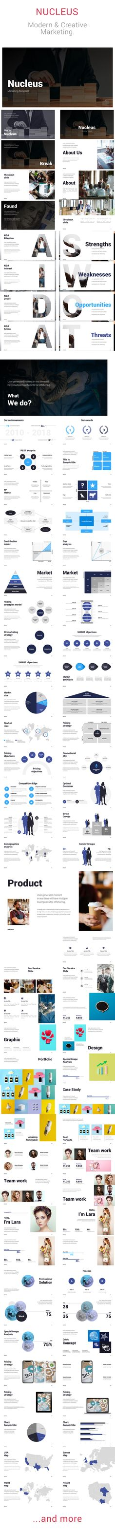 About theme Nucleus -Marketing ToolBox is multipurpose presentation template which includes most needed materials like popular marketing models, analysis, research, charts, graphs and maps.Features...
