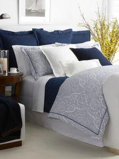 $350 King duvet | Navy Brentwood Paisley Duvet - Ralph Lauren Home Duvet Covers - RalphLauren.com