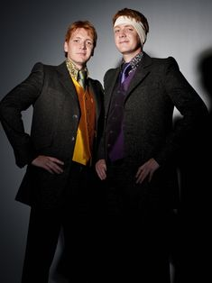 Lucius Malfoy Deathly Hallows Part 1 | File:Fred and George Deathly Hallows promo image.jpg