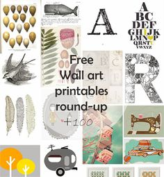 Ohoh Blog - diy and crafts: DIY Monday # Free Wall Art printables botanicals, and loads more