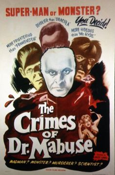 The Crimes of Dr. Mabuse poster