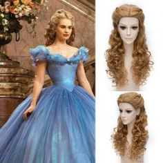 SHARE & Get it FREE | Popular Cinderella Cosplay Elegant Charming Flaxen Long Jerry Curly With Braids Costume WigFor Fashion Lovers only:80,000+ Items • FREE SHIPPING Join Twinkledeals: Get YOUR $50 NOW!