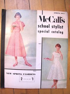 Is it me, or are the styles from back then much more feminine than what is available today? I love the white dress.