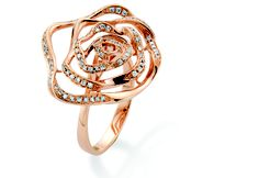 Gold and diamond ring by @Clogau