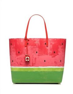 Kate Spade Make A Splash Len Tote Bag. Get one of the hottest styles of the season! The Kate Spade Make A Splash Len Tote Bag is a top 10 member favorite on Tradesy. Save on yours before they're sold out! Kate Spade Totes, Kate Spade Tote Bag, Kate Spade Handbags, Backpack Purse, Purse Wallet, Red Purses, Purses And Bags, Watermelon Patch, Cartonnage