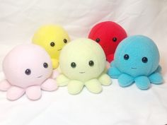 Handmade Octopus Plushies by GrnMarco.deviantart.com on @DeviantArt