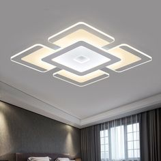 Acrylic Squarer Modern Ceiling Light Mounted Fixture for Home Living Room Decor Pvc Ceiling Design, Ceiling Design Living Room, Bedroom False Ceiling Design, False Ceiling Living Room, Bedroom Ceiling, Living Room Designs, Pop Design, Wall Design, House Design