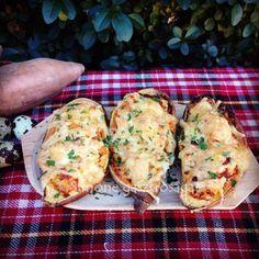 Salmon Burgers, Mozzarella, Baked Potato, Potatoes, Baking, Ethnic Recipes, Food, Patisserie, Potato