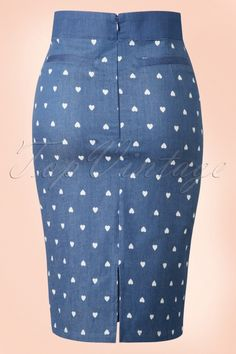 Dancing Days by Banned Judy Hearts Denim Pencil Skirt 120 39 17853 20160330 0009 Pencil Skirt Outfits, High Waisted Pencil Skirt, Pencil Skirts, Pencil Dresses, African Fashion Dresses, African Dress, Denim Fashion, Fashion Outfits, Denim And Lace