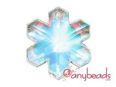 Swarovski Crystal Elements 6704 Snowflake Pendant 30mm - Crystal AB
