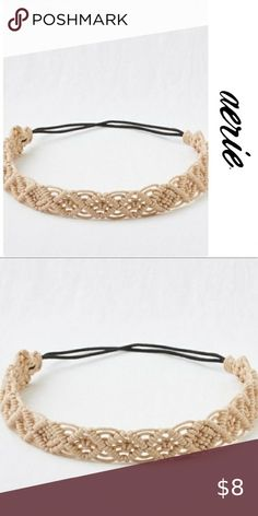 Shop Women's aerie size OS Hair Accessories at a discounted price at Poshmark. Macrame Headband, Macrame Jewelry Tutorial, Macrame Earrings, Diy Headband, Macrame Wall Hanging Diy, Macrame Art, Beach Hairstyles, Men's Hairstyle, Ponytail Hairstyles