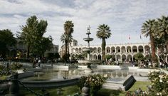 Plaza de Armas, Arequipa, Perú.