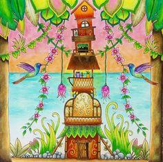 #magicaljungle #johannabasford #kleuren #kleurenvoorvolwassenen…