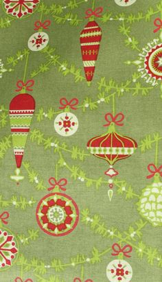 Christmas Ornaments fabric