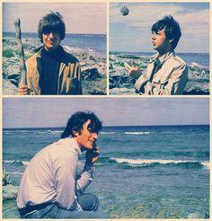 "GEORGE, PAUL AND JOHN ""ON THE BEACH"" 1965"