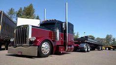 Big Rig Trucks, Semi Trucks, Cool Trucks, Train Truck, Road Train, Peterbilt 379, Peterbilt Trucks, Custom Big Rigs, Custom Trucks