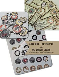 Patty's video on making soda pop top inserts with My Digital Studio.