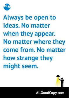 A quote about ideas.
