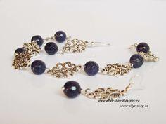 Ellys Shop: Set bratara si cercei margelute lazuli fatetate si... Beaded Bracelets, Handmade, Shopping, Jewelry, Fashion, Moda, Hand Made, Jewlery, Jewerly