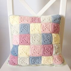 Granny crochet cushion by _cat.thomas