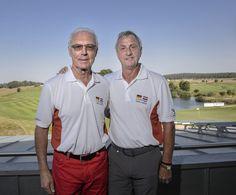 Johan Cruijff en Franz Beckenbauer ontmoetten elkaar | Telegraaf-Telesport