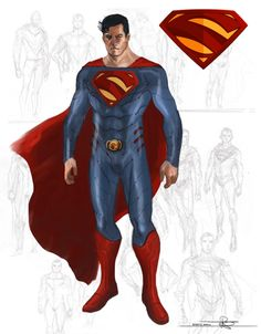 """Superman concept art... Possibly for the """"Man of Steel"""" film? I don't know. In any case, it looks great."""