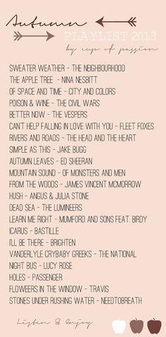 more autumn playlists