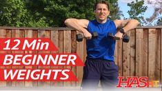 12 Min Beginner Weight Training w/ Coach Kozak