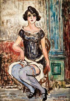- Marcel François LEPRIN (1891-1933) Prostituée à Marseille. 1922. Huile sur toile. Sig