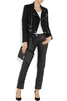 Balmain Stretch-cotton twill biker jacket    $3,307